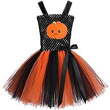 YiZYiF Disfraz de Halloween para Niña Vestido Tutú de Malla Costume  Infantil ... 359414b193db