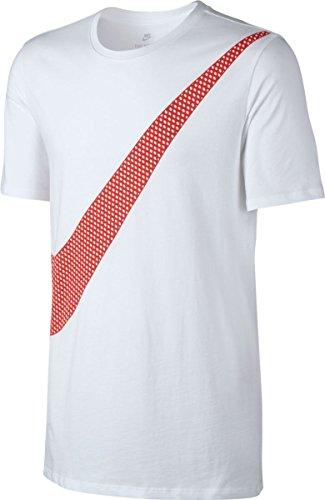Nike M Nsw Tee Prnt PK Swoosh T-shirt für Herren blanco (white / white / max orange)