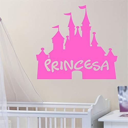 wandaufkleber 3d effekt Château Princesa für Kinderzimmer Kinderzimmer Zimmer