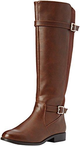 New Look Damen Wide Foot Egerton Reitstiefel Braun (Tan)