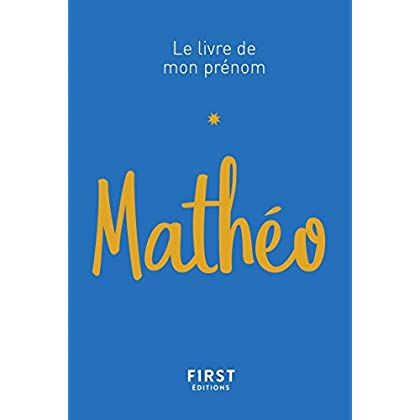 Le Livre de mon prénom - Mathéo 62