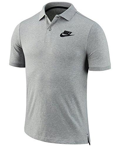 Nike M NSW SS POLO-SHIRT Matchup JSY Tennis, Herren gris (dk grey heather / black)