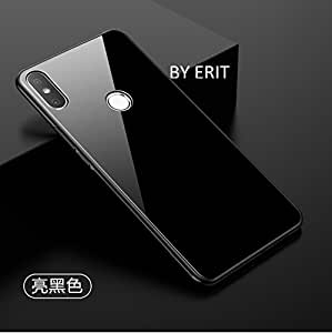 100% authentic fd42a 1bf64 ERIT Xiaomi Redmi Y2 Back Case Cover Luxurious Toughened Glass Back Case  with Shockproof TPU Bumper Xiaomi Redmi Y2 / Xiaomi Redmi S2 (Black Glass)