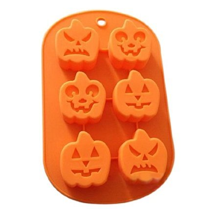 J*myi Microwave ovens 6 Halloween expression pumpkin festival silicone cake mold hand soap mold