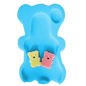 MiaZhou Baby Bathing Tubs,Baby Infant Soft Bath Sponge Seat, Anti-Slip Foam Mat Body Support Cushion Pad Bathroom Supplies