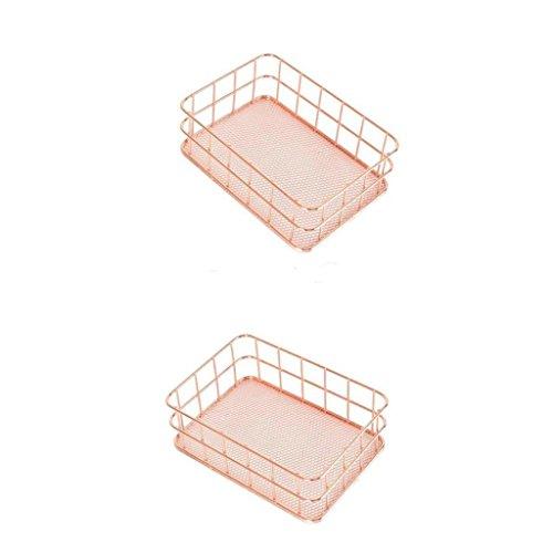 Sharplace 2 Pcs Plateau Organisateur De Rangement Stockage Bureau Maison Marriage Noël Décoration Rose
