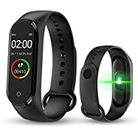 Digibuff Bluetooth Fitness Smart Health Band/Smart Fitness Band with Call Whatsapp Alert Stop Watch Pedometer for Men…