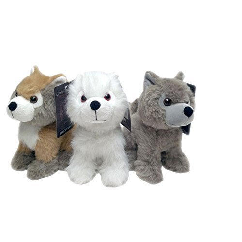 (Game of Thrones Direwolf Cub Plush Set #1 (Ghost, Summer, & Grey Wind) by Factory Entertainment)
