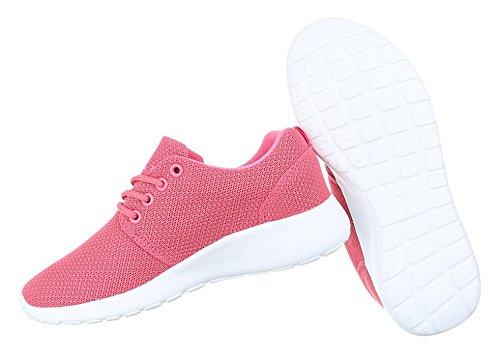 Damen Freizeitschuhe Schuhe Sportschuhe Turnschuhe Sneaker Laufschuhe Pink Schwarz Blau Grau Rot Weiß 36 37 38 39 40 41 Pink 2VMGmfemyA