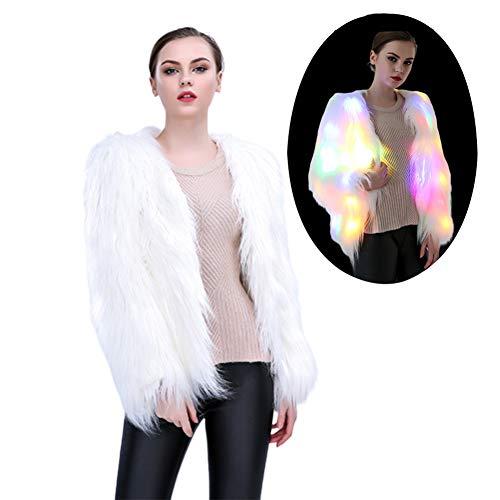 Licht Zum Verkauf Kostüm Led - CFByxr Halloween Weihnachten Party Kleidung- Warm Sanft Nacht Led Blinkt Künstliches Fell und Versteckter Schalter Kostüm (S-XXXXL)
