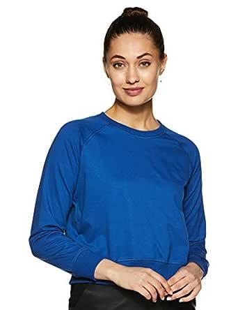 Amazon Brand - Symbol Women's Cotton Sweatshirt (AW18WNSSW03_Cobalt Blue_X-Small)