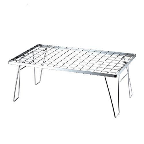 ZA Outdoor Edelstahl Grill Tischnetz Tisch Mini Lagerregal Klapptisch Abfluss Rack multifunktions Faltbare Tragbare Kleine Tisch für Camping BBQ Picknick Hause - Grill Za