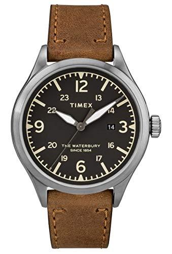Timex Orologio Analogico Quarzo Uomo con Cinturino in Pelle TW2R71200