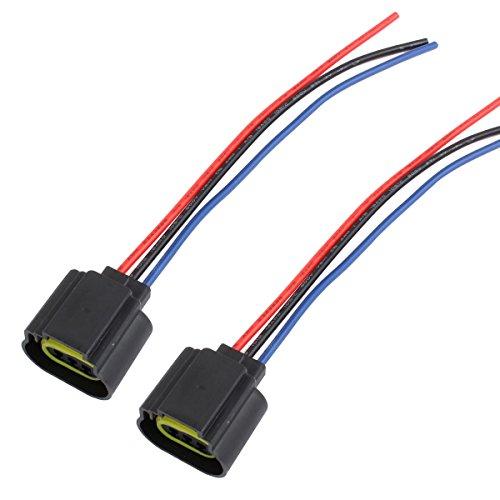 TOMALL H13 9008 LED Scheinwerfer Birne Ersatz Buchse für Hi / Lo Beam (9008 H13-stecker)
