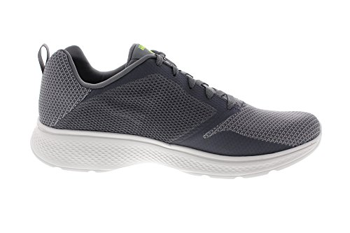 Skechers Go Walk 4-Solar, Baskets Homme Gris (Charcoal/lime)