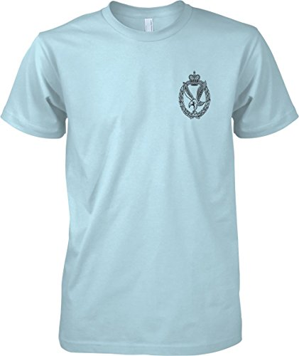 British Army Army Air Corps - B&W Badge - Official MOD T-Shirt - Light Blue - Medium (Corp Blauen T-shirt Army Air)