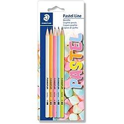 Staedtler Norica Pastel 13043 BK5P1. Lápices de grafito barnizados en color pastel con minas de dureza media HB.