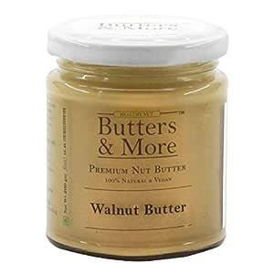 Butters & More Vegan Natural Walnut Butter (200G) Unsweetened. Keto & Diabetic Friendly.