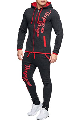 Herren Jogginganzug Fitnessanzug Power Design Sportanzug Boxusa Sweatjacke und Jogginghose viele Farben S M L XL XXL