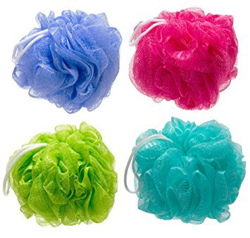 Bath sponge by Infinity pack of Four (color may very)