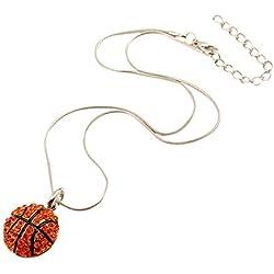TININNA venta caliente Moda-Collar Gargantilla,mujer y hombre joyas Deporte estilo la forma de la baloncesto la colgante declaración de la cadena collar.