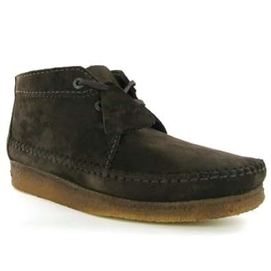 Clarks Originals Weaver Ebony Leather Menss Boots Size 43 EU