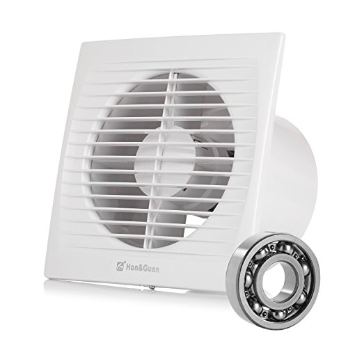 Hon&Guan 150mm Ventilador Extractor de aire Silencioso 295m³/h para Oficina , Baño...