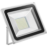 5X 100W Foco LED Proyector de Luz Lámpara IP65 Impermeable Iluminación Exterior del Jardín al Aire Libre, Patio, Terraza. Bajo Consumo de Energía y Alto Brillo Blanco frío 220V