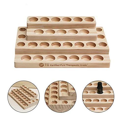 raspbery 3-Tier Holz ätherisches Öl Display Storage Organizer Rack Ständer, Cosmetic Organizer Rack - Halter für 30 Stück (Aus Tiere Holz Einfache Ständer)