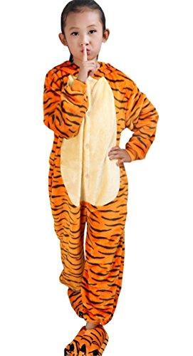 Dabag pigiama animali costumi tiger pigiama intero bambini pigiami interi comodo sleepwear con cappuccio carina camicie da notte giallo servizio a domicilio bambini bambine animazione cosplay