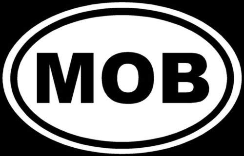 Mob Sticker Funny Hustler Gangster Mafia Decal Laptop - Die Cut Vinyl Decal for Windows, Cars, Trucks, Tool Boxes, laptops, MacBook - virtually Any Hard, Smooth Surface