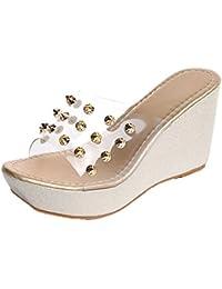Shu Chaussures Fille Folle Femme Avec Des Talons, Couleur Beige, Taille 36.5