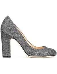 Jimmy Choo Mujer BILLIE100LAGANTHRACITE Plata Cuero Zapatos Altos