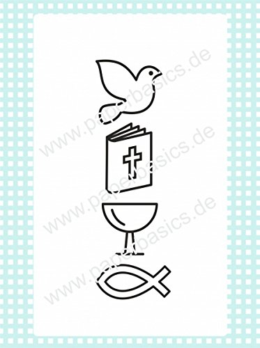 Paperbasics Stempel Stempelgummi Christliche Symbole