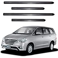 ARUN Side Door Beading and Bumper Protector with Single Chrome Strip for Toyota Innova