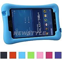 NEWSTYLE Salud Ecológica EVA Silicona Niños Funda Para Samsung Galaxy Tab 4 7.0 T230 T231 T235,Shockproof Protección DropProof Case Cover con Stand Función -- Azul