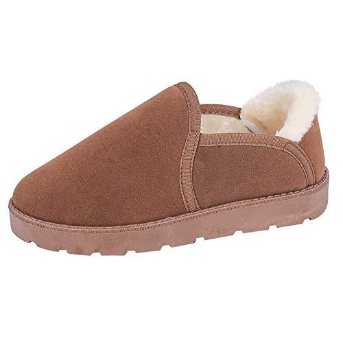 Bazhahei donna scarpa,ragazza scarpe di velluto scarponi da neve scarpe da pane,invernali/autunno tacchi alti scarpe singole stivaletti flat shoes casual con tacco basso stivale,boots moda da donna