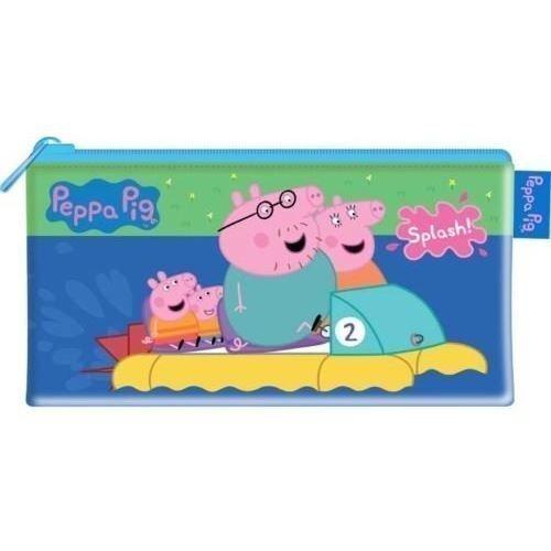 Gran Peppa Pig y familia papelería cremallera hasta estuche