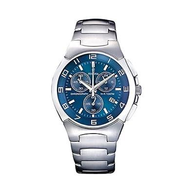 FESTINA F6698/4 - Reloj de caballero de cuarzo, correa de acero inoxidable (con cronómetro) de FESTINA