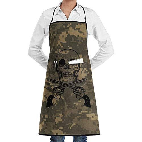 Beibao-shop Krieg Militär Armee Grün Camouflage Fraktion Unisex Küche Kochen Garten SchürzeNähtasche wasserdichte Kochschürzen
