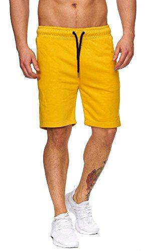 ... TAZZIO Herren Sweatshort Jogginghose Fitnesshose Traininghose  Sweatpants Sporthose Freizeithose 17600 Mustard-Yellow ...