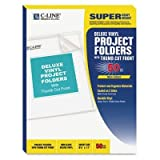C-Line - Deluxe Project Folders Jacket Letter Vinyl Clear 50/Box Product Category: File Folders Portable & Storage Box Files/Folders by C-Line