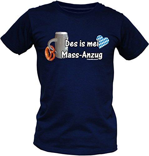 Wiesn T-Shirt - Des is mei MASS-Anzug - lustiges Bayerisches Sprüche Shirt ideal für's Oktoberfest statt Lederhose und Dirndl Maßanzug