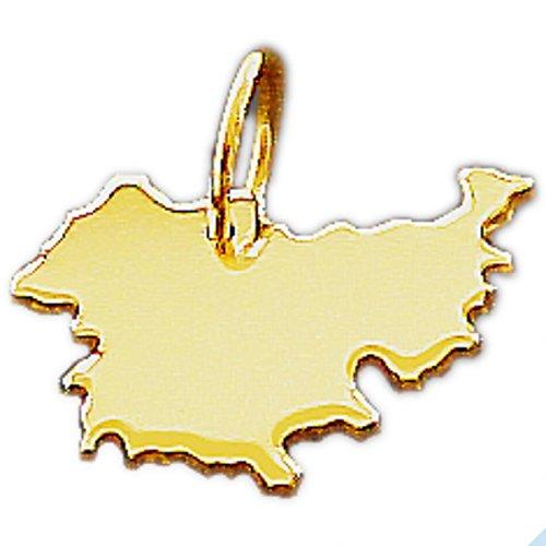 Thüringen Kettenanhänger in massiv 585 Gold