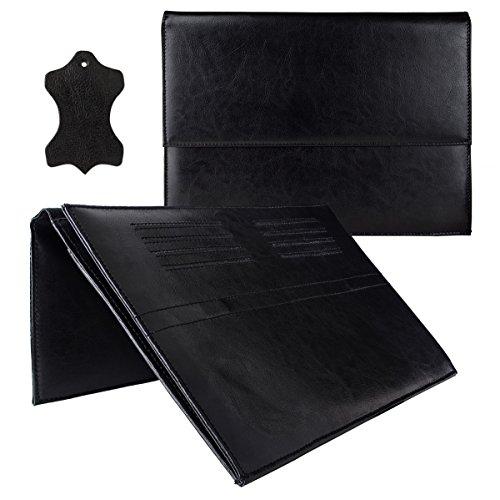ROYALZ Schutztasche für Acer Chromebook R11 Tasche Leder (11,6 Zoll Convertible Notebook) Schutz Hülle Cover Sleeve Zubehör Schwarz