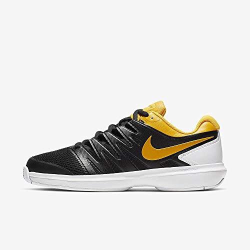 Nike Herren Air Zoom Prestige Hc Tennisschuhe, Mehrfarbig (Black/University Gold/White 3), 42.5 - Tennis Zoom Air Nike Prestige