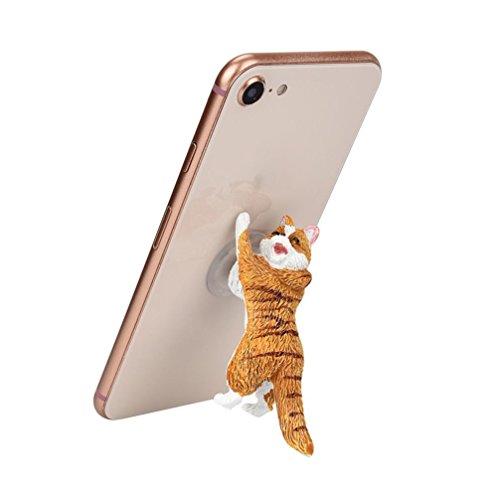 Mml mignon Dessin animé de chat téléphone Sucker Bracket Simulation Animal Modèle téléphone support