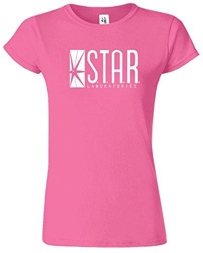 Star Laboratories Herren Damen Tee Top T-Shirt von SNS Online Azalee / Weiß Design