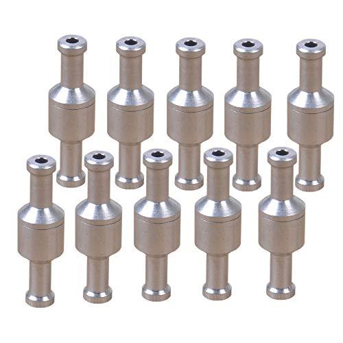 PolarLander 10 Pezzi in Lega di Alluminio unidirezionale Senza Ritorno valvola di ritegno Benzina Diesel per Auto Tubi del Vuoto Pompe Acqua Olio 8mm