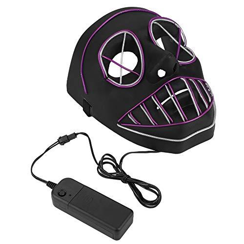 Kostüm Halloween Kerl - Leuchtende Maske, led leuchtende Dekoration Spielzeug für Party Hallowen Karneval Festival